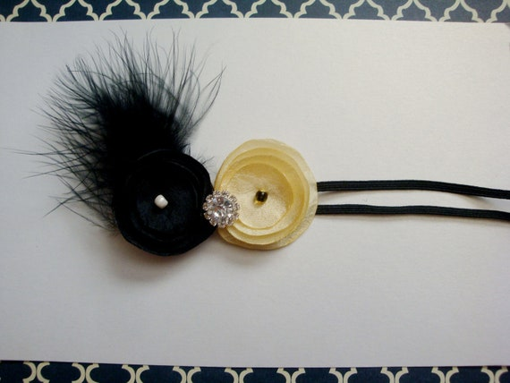 Black and Yellow fancy baby headband