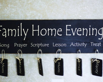 Personalized Family Home Evening Board Kit
