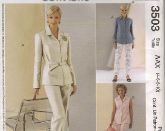 McCall's Sewing Pattern 3503 - Misses' Tops, Pants, & Belt (12-18)