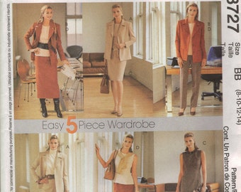 McCall's Sewing Pattern 3727 - Misses Unlined Jacket, Dress, Top, Pants, Skirt (8-14, 16-22)