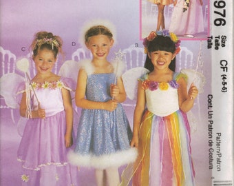 McCall's Costume Sewing Pattern 2976 - Children's & Girl's Fairy Costumes (4-6 or 10-14)