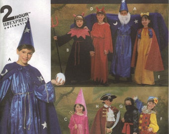 Simplicity Costume Sewing Pattern 9703 - Child's Cape, Robe, Dress, Tunic, Headpiece Costumes (S-L)