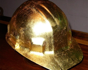 hard hat in 23 K gold for the ceo on the jobsite
