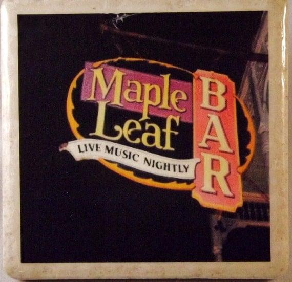 Maple Leaf Bar Sign New Orleans Coaster
