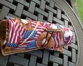 Baseball Pen Roll - Red, White, Blue, American Flag