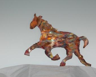 COPPER HORSE: metal sculpture,wall art,metal art,home decor, metal wall are, copper sculpture