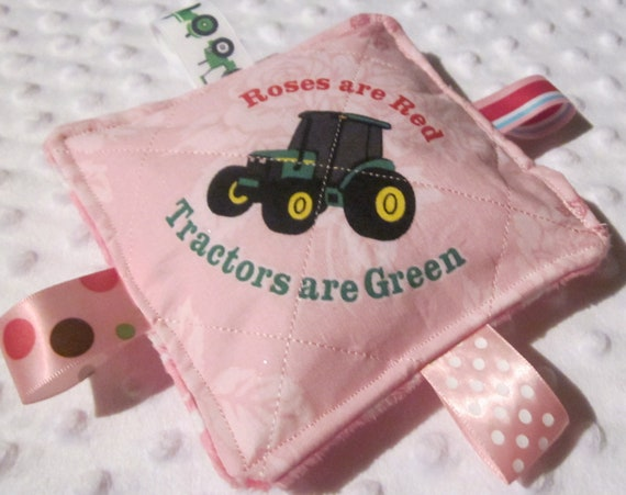 Baby Girl Crinkle toys, John Deere Licensed print, New, Made in USA, Babies love them, fun sounds