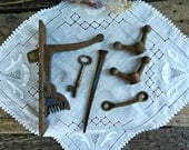 Found Lot of Rusty Antique Iron Hardware, Late 1800's-Early 1900's