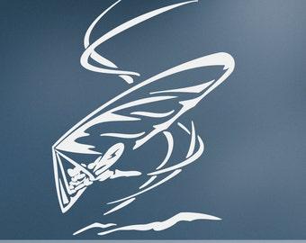 Extreme Sports Vinyl Wall Decal: Hang Glider, Hangglider, Delta Plane, Deltaplane ES032