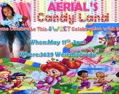 Candyland Invitation-Rainbow Colorful Invitation