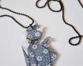 "Necklace ""origami kitty"""