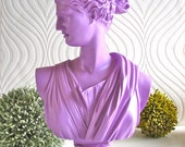 RESERVED 4 JPOPPAW Diana Bust Statue in purple