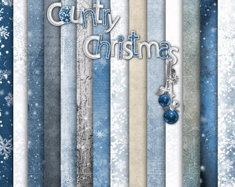 Country Christmas Paper Set 1 - Digital Scrapbooking