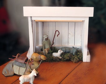 Nativity Creche BARN for Willow Tree