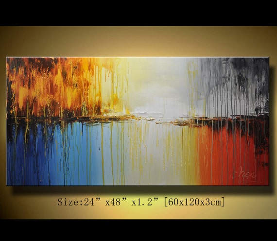 Original Abstract Painting, Modern Textured Painting,  Palette Knife, Home Decor, Painting Oil on Canvas  by Chen 0137