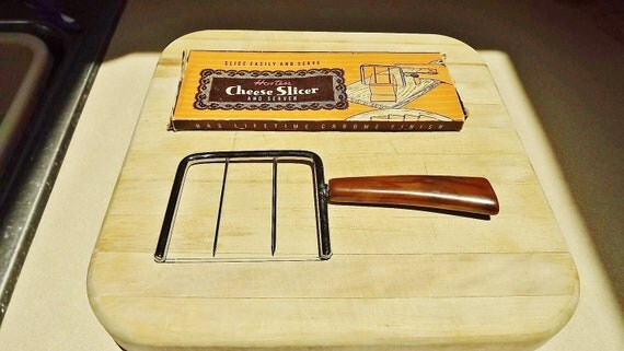 Vintage Hostess Wire Cheese Slicer and Server Retro