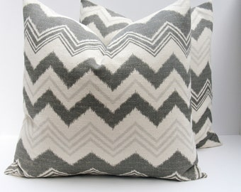 Gray Pillow - Gray pillow Covers - Decorative Pillow- Burlap Pillow - Designer Pillows - Accent Pillows - Toss Pillow -  Dark Gray Pillow