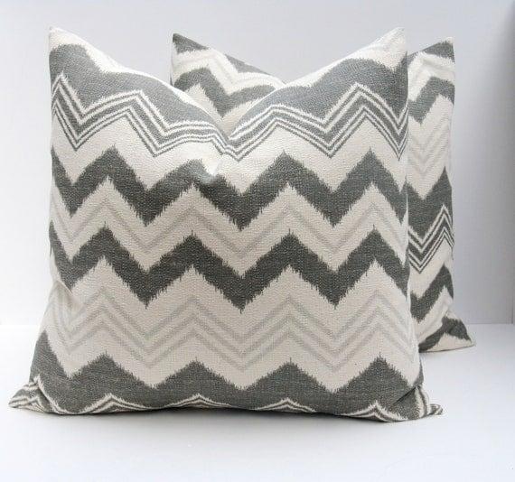 Gray Decorative Throw Pillows : Decorative Pillows Gray Pillow Gray Pillow Covers by EastAndNest