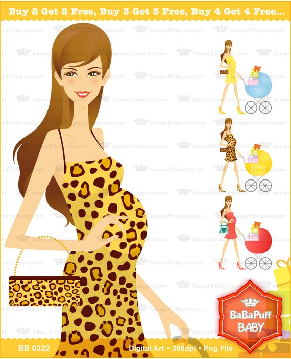 Buy 2 Get 2 Free ---- Set 7 Chic Mom, Pregnancy, Baby Shower Announcement, Mother ---- BB 0222