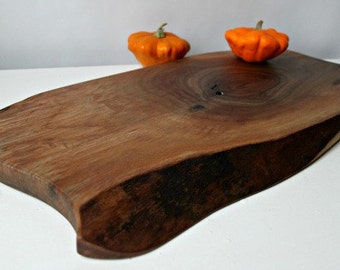 Rustic Cutting serving Board, reclaimed black walnut, for your organic kitchen