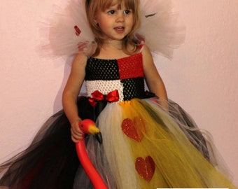 Queen of Hearts Tutu Costume Newborn-12 months