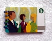 Recycled Starbucks Coffee Connections Gift Card Notepad - writeaboutit