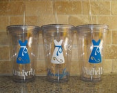 Reserved for Kelly - 15 Personalized Bridesmaids Gifts and Bride Gift - 16 oz acrylic tumblers - Monogrammed Gifts - bridesmaid gifts
