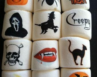 12 jumbo custom logo personalized marshmallows Halloween pumpkin party favors