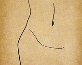 Belly, A Gestural Drawing.