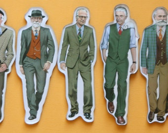 Set of 5 Famous Researcher Magnets