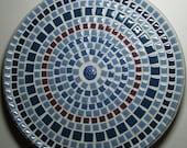 "12"" Mosaic Ceramic Tile Decorative Plate"