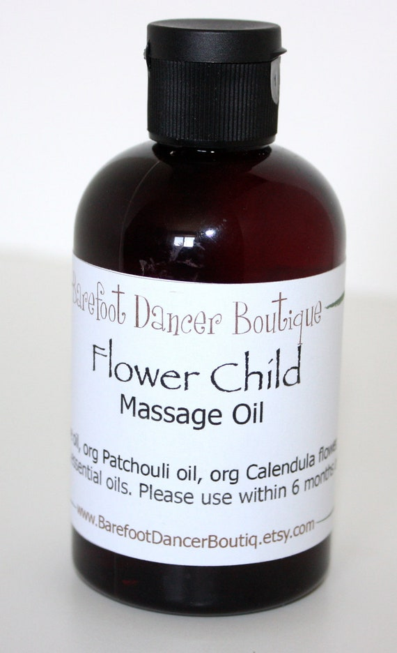 40% OFF - Massage Oil - Flower Child - Organic Massage Oil - Patchouli Massage Oil