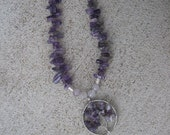 Stunning Amethyst Tree of Life Natural Stone Necklace