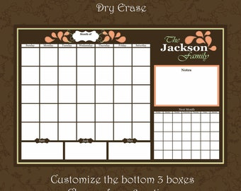 Items Similar To Personalized Dry Erase Wall Calendar 24