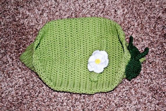 Newborn Pea Pod Cocoon and Headband Set
