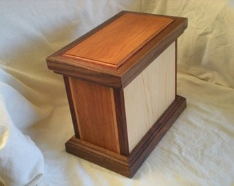 Wooden Box made with Cherry, Vermillion, Maple and Walnut Woods. Versatile Uses by Father On The Mountain