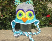 OWL HAT. Cute Owl Hat for Ages 6 - Adult.