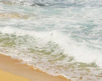 Beach Photography - beach photograph, beach decor, ocean photograph,  sea, sand, wave photograph, cottage decor, beach picture