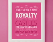 Fairytale Princess Art Print for Nursery or Girl's Room Decor