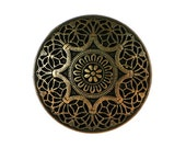 12 Safi 3/4 inch ( 20 mm ) Metal Buttons Brass Color