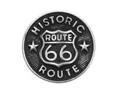 3 Route 66 3/4 inch ( 20 mm ) Metal Buttons