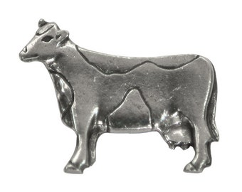 Danforth Cow 1 inch ( 25 mm ) Pewter Metal Button