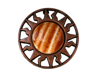 2 Equator 7/8 inch ( 23 mm ) Copper Caramel Plastic Buttons