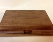 iPad mini Stand  - docking station (Black Walnut)