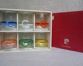 Vintage Pierre Cardin Lowball Glass Set - 1970's