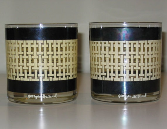 1960s Georges Briard Basket Weave Design Pair of Glasses