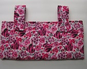 New Small Handmade Pink Animal Hearts Wheelchair Walker Mobility Tote Bag