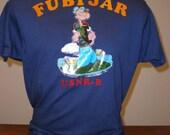 Vintage 1970s Popeye the Sailor Navy FUBIJAR T-Shirt Tee