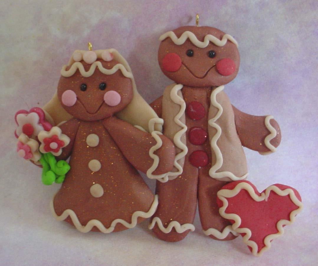 Polymer clay milestone christmas ornament cake topper