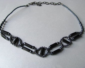 Statement Necklace - Choker Necklace - Black Choker